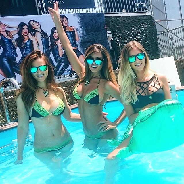 Phone pic!  Monster girls hot tub!! @monsterenergy_daily