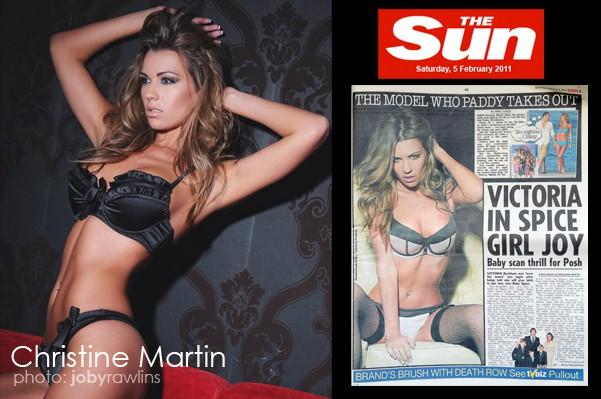 Chrisine Martin in The Sun